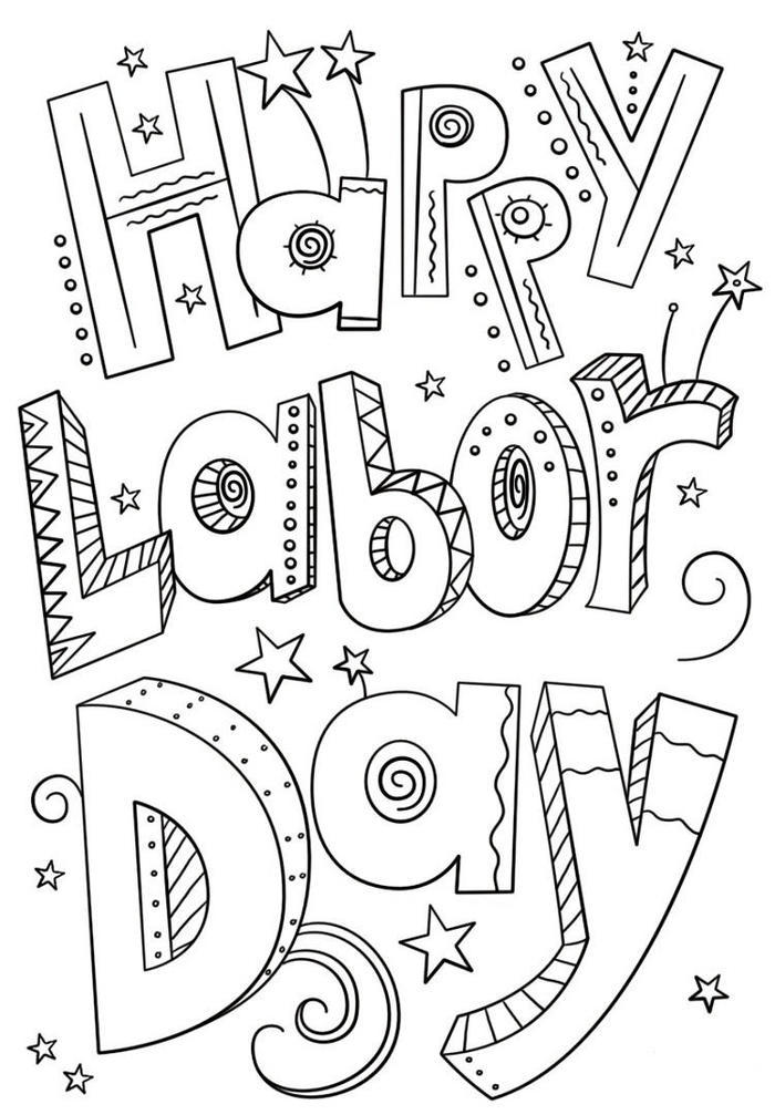 Happy Labor Day Coloring Pages