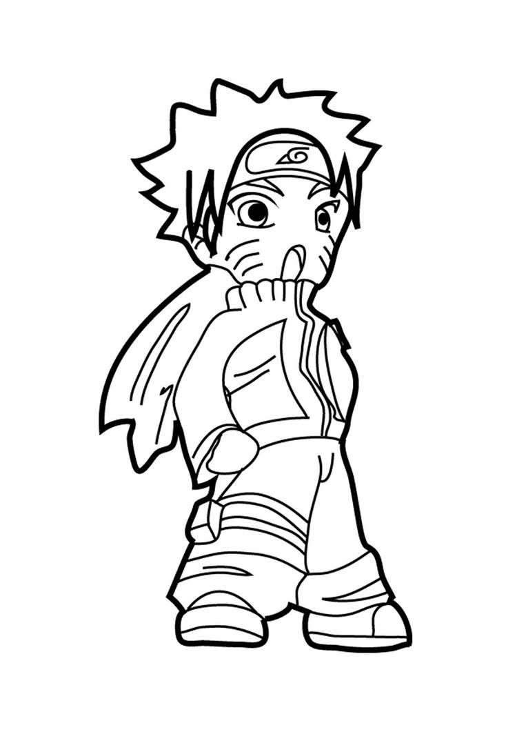 Happy Naruto Coloring Pages