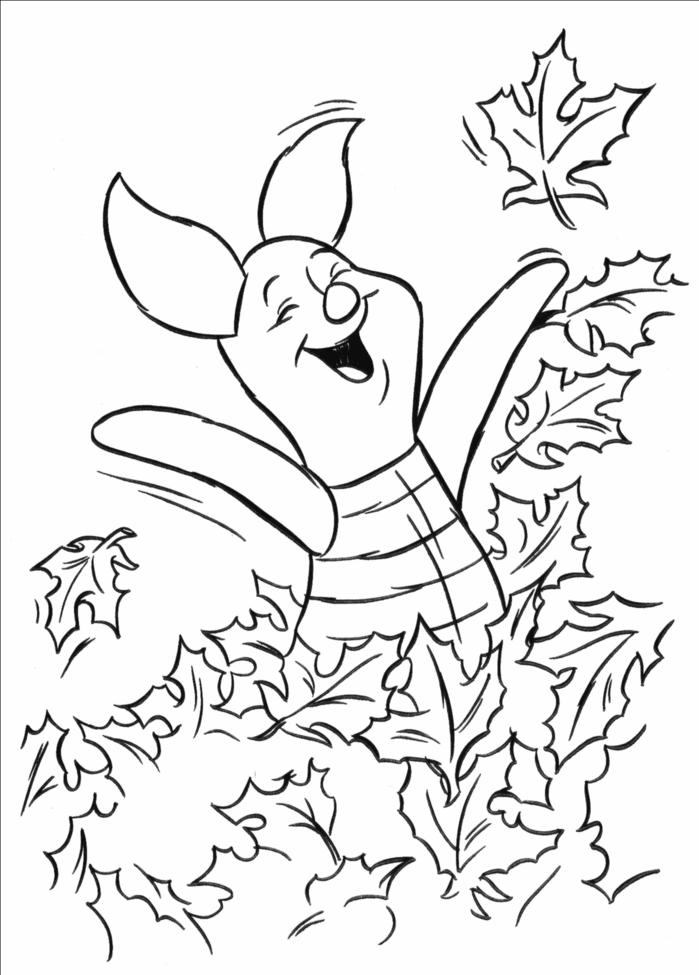 Happy Piglet Pig Coloring Pages To Print - Coloring Ideas