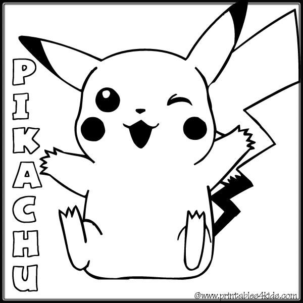 Happy Pokemon Coloring Pages Pikachu - Coloring Ideas