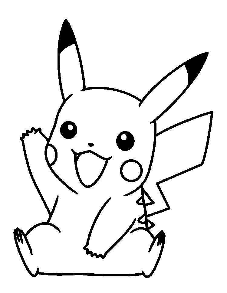 Happy Pokemon Coloring Pages