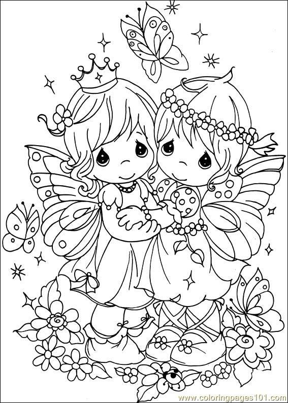 Happy Precious Moments Wedding Coloring Pages 2