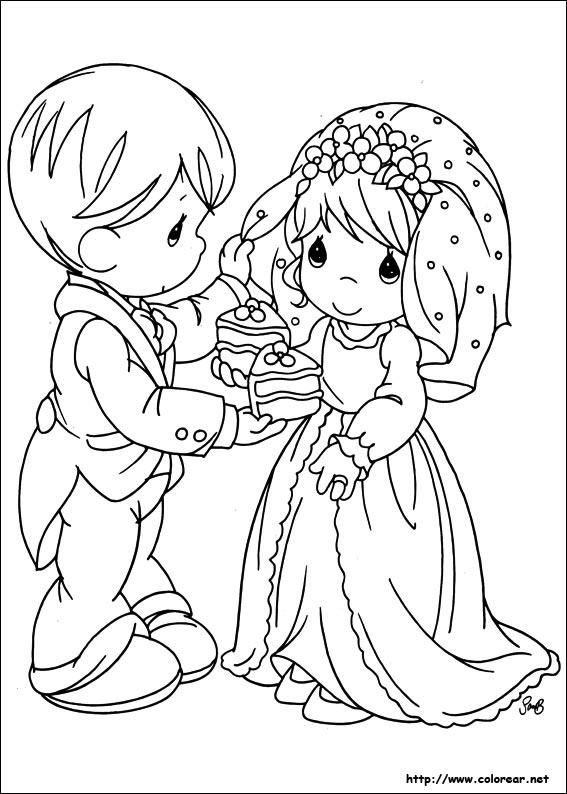 Happy Precious Moments Wedding Coloring Pages 3