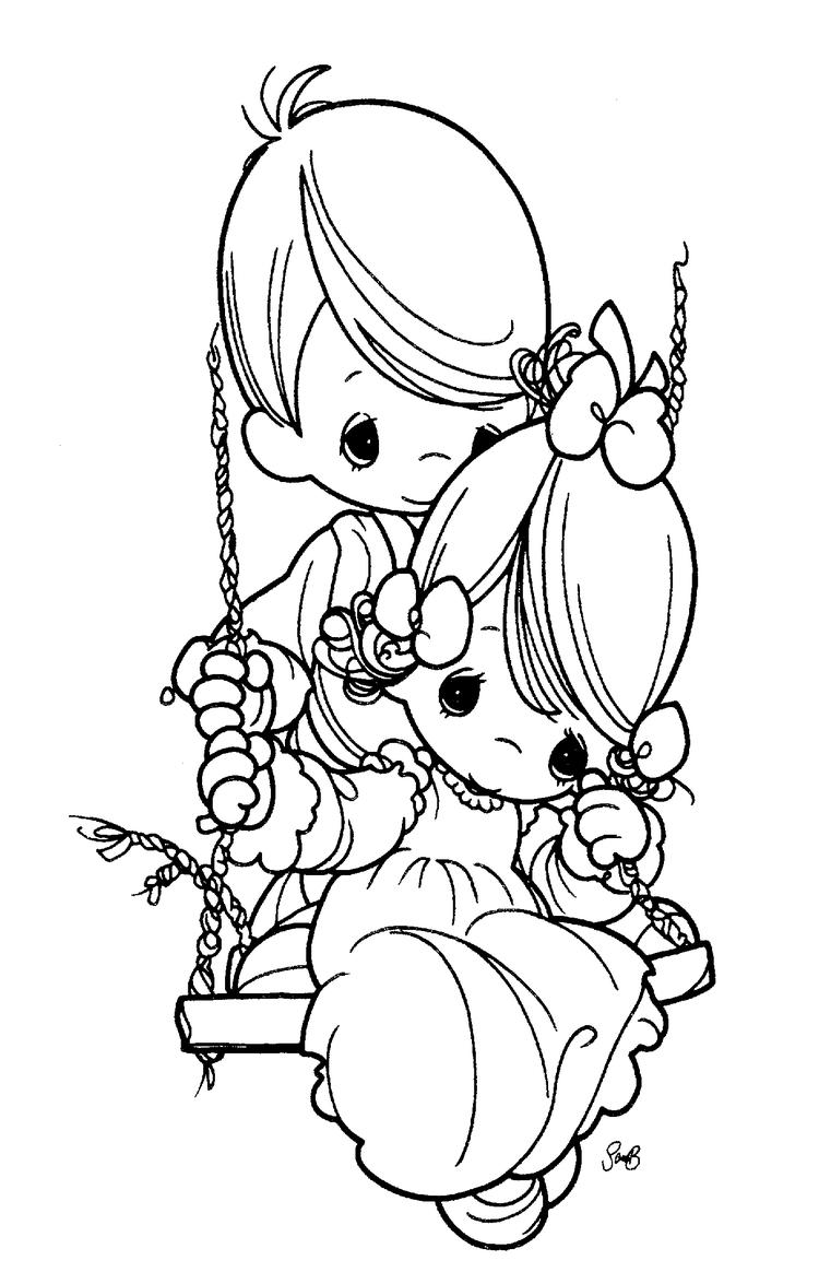 Happy Precious Moments Wedding Coloring Pages