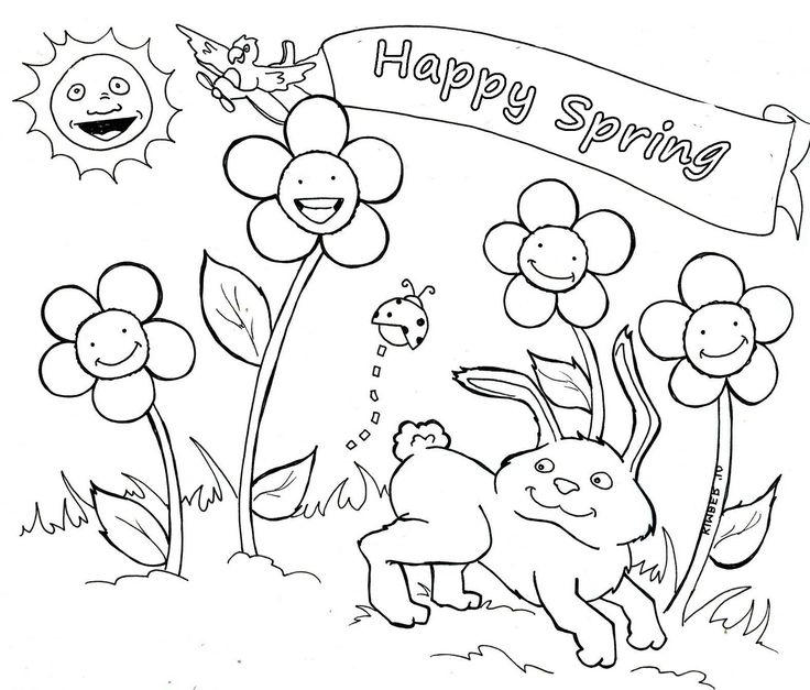 Happy Preschool Coloring Pages Spring 3