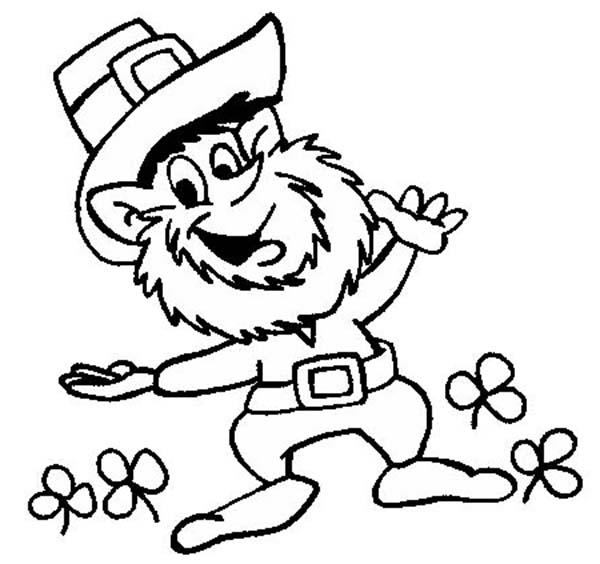Happy St Patricks Day Coloring Pages For Kids Printable