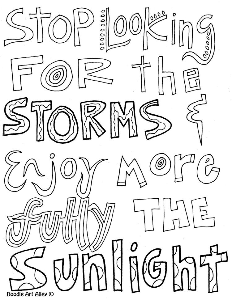 Happy Teen Quote Coloring Pages 1