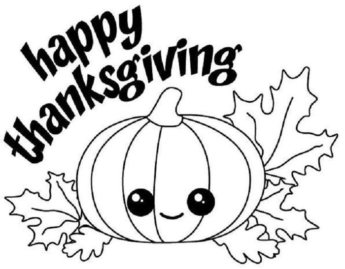Happy Thanksgiving Pumpkins Coloring Pages