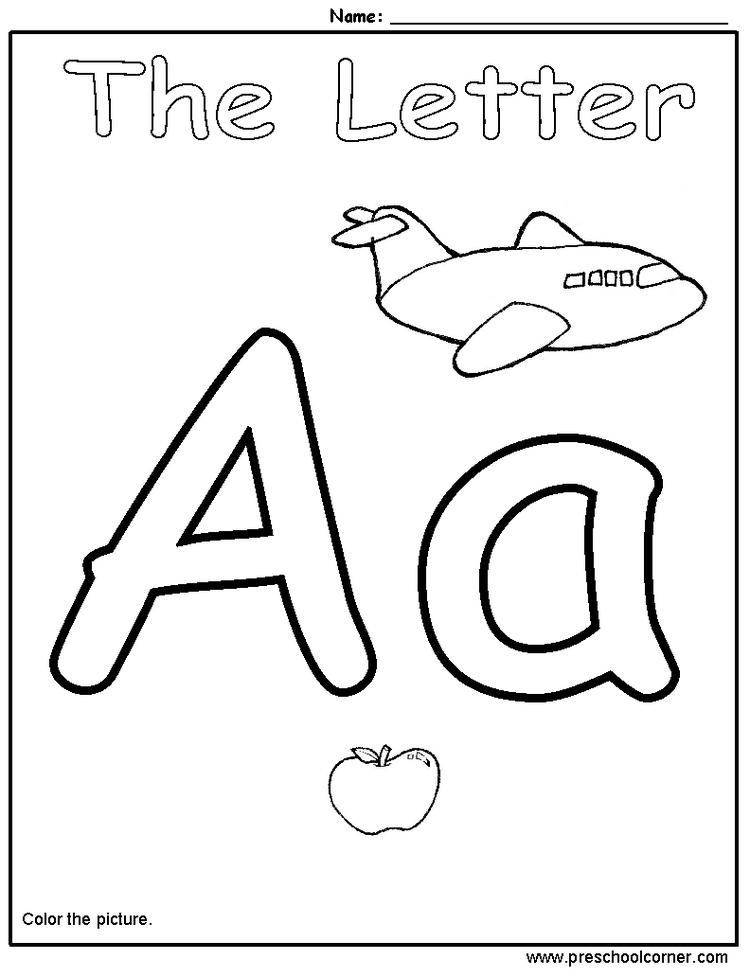 Happy Toddler Alphabet Coloring Pages 1