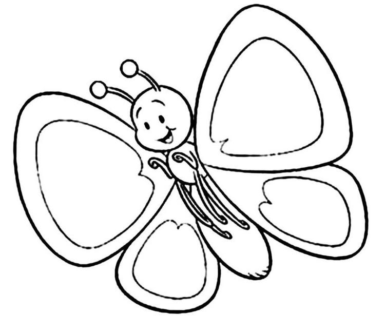 Happy Toddler Coloring Pages 1