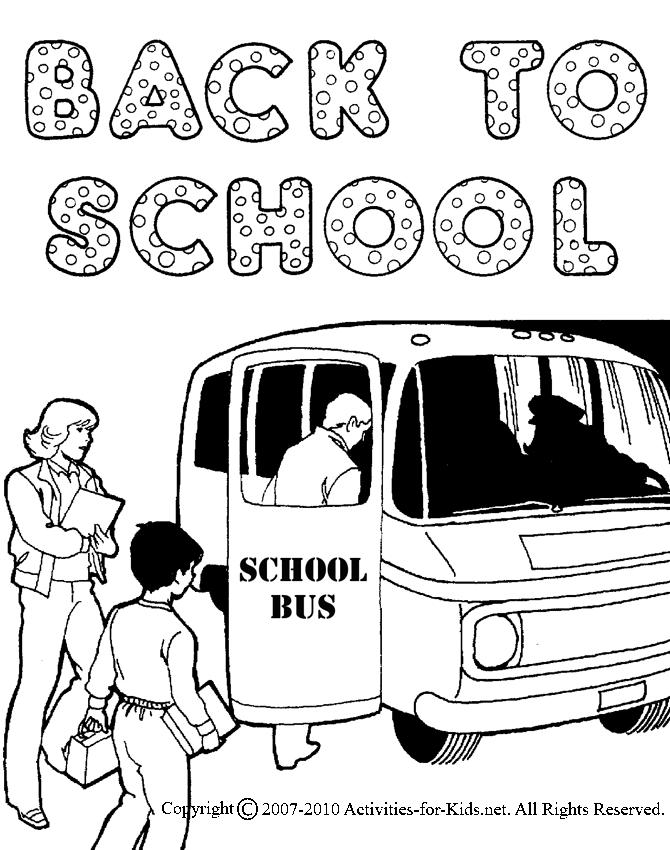 Happy Welcome Back To School Coloring Pages 2
