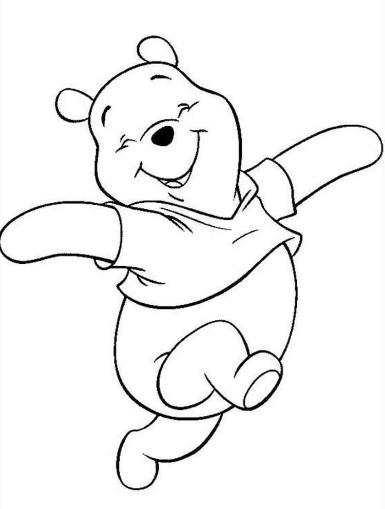 Happy Winnie The Pooh Coloring Pages