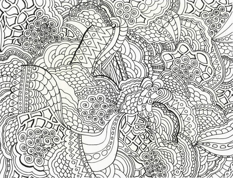 Hard Abstract Coloring Pages Printable