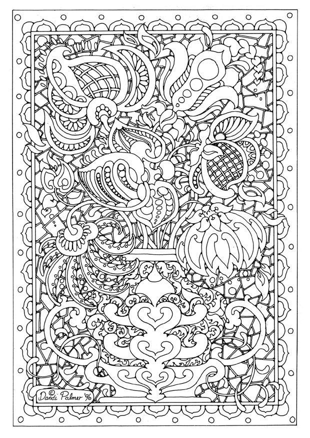 Hard Adult Flower Coloring Pages Printable 1