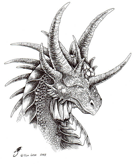 Hard Dragon Head Coloring Pages
