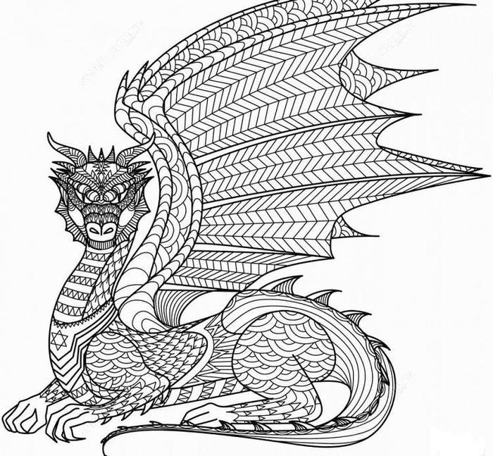 Hard Dragons Coloring Pages