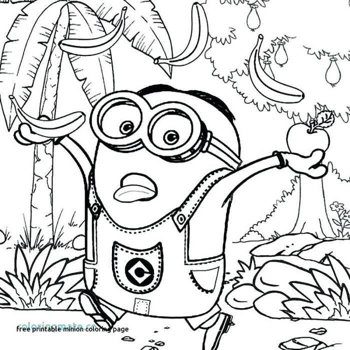 Hard Minion Coloring Pages