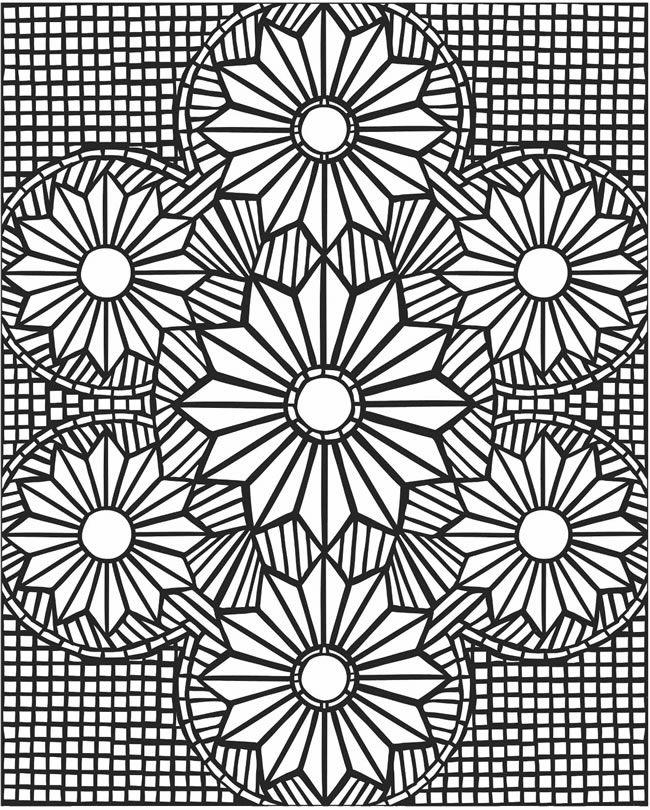 Hard Mosaic Coloring Pages For Adults