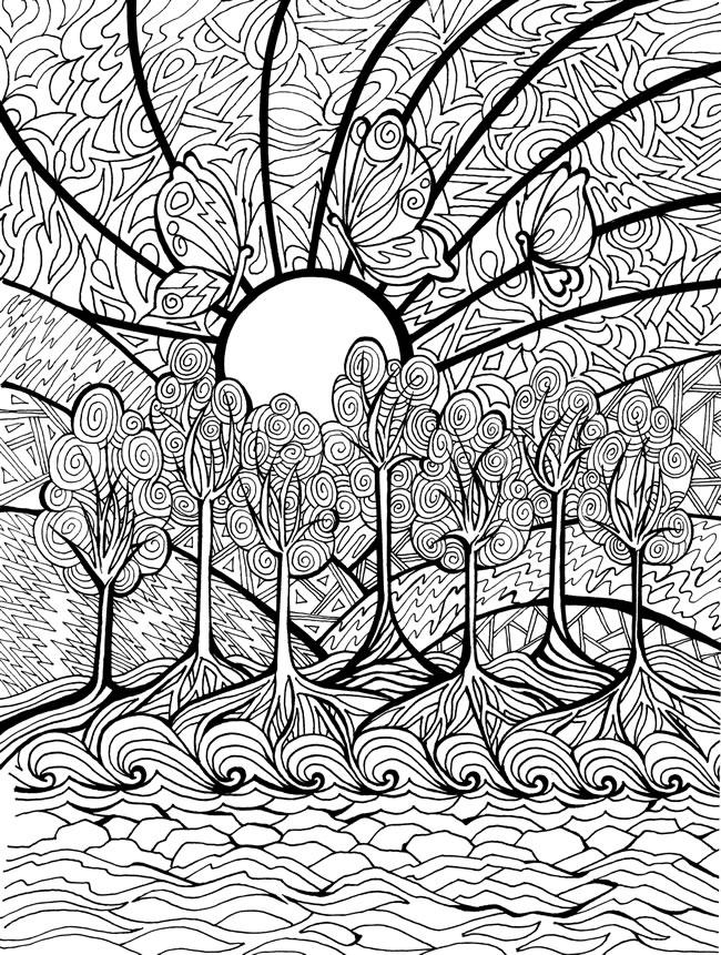 Hard Mosaic Coloring Pages Print Out