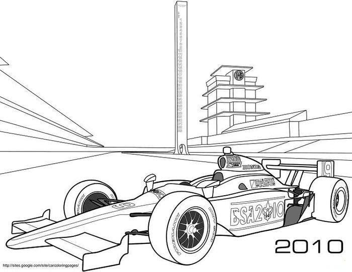 Hard Race Cars Coloring Pages