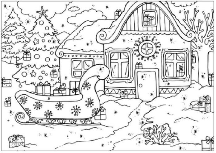 Hard Winter Coloring Pages