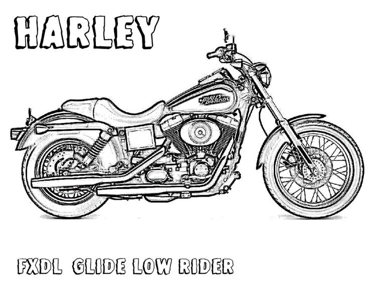 Harley Davidson Motorcycle Coloring Pages
