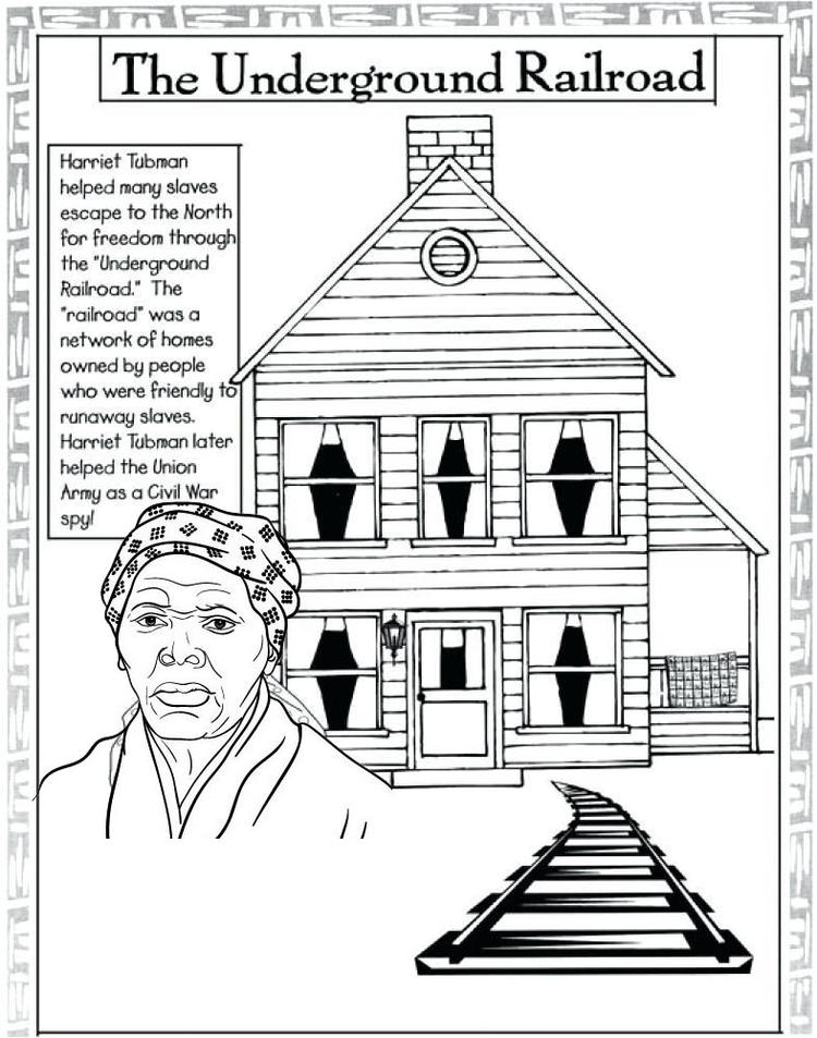 Harriet Tubman Underground Railroad Coloring Page
