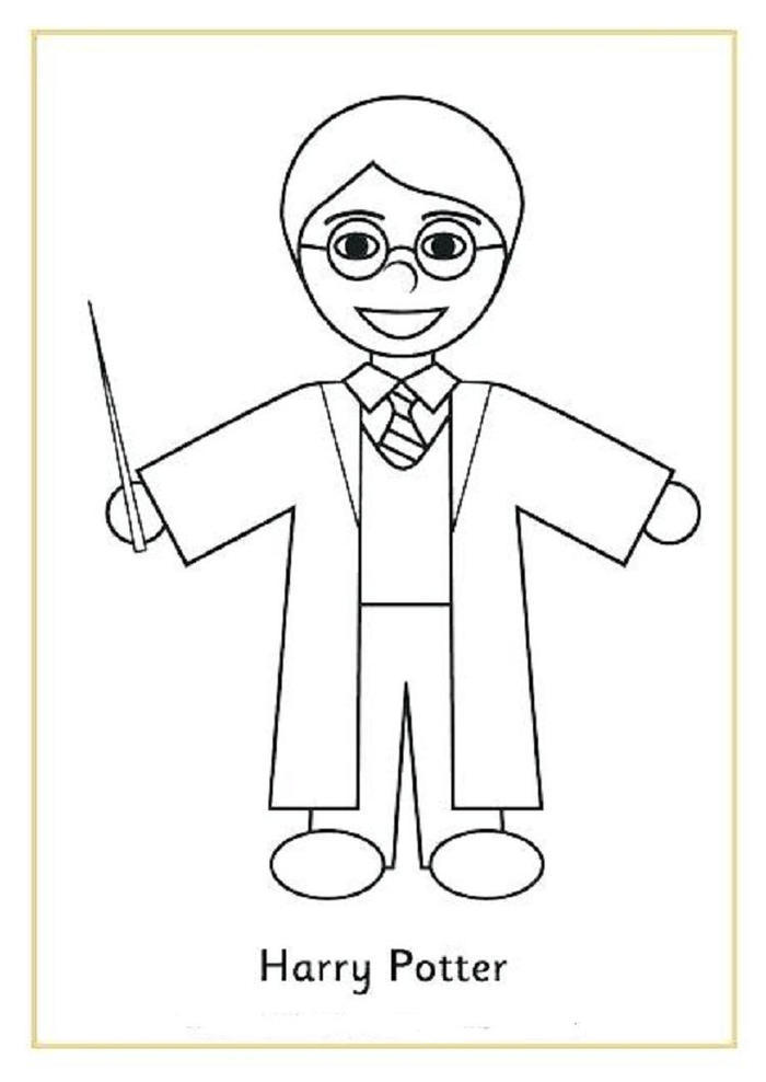 Harry Potter Coloring Pages Easy