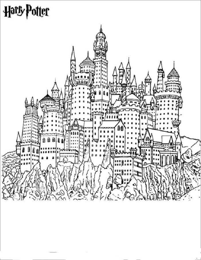 Harry Potter Coloring Pages Hogwarts School