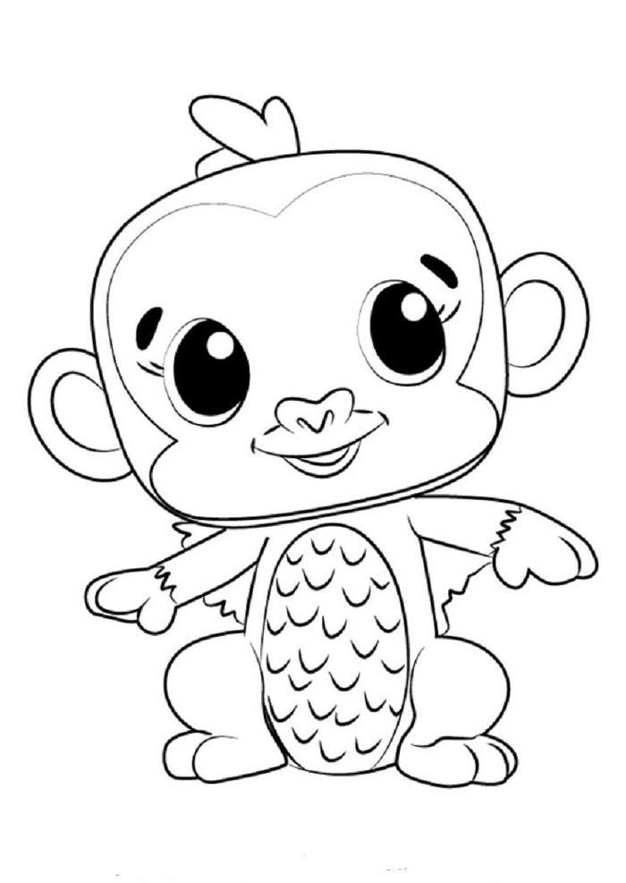 Hatchimals Monkiwi Coloring Pages