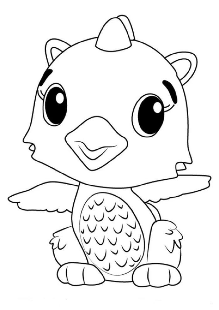Hatchimals Polar Dragggle Coloring Pages