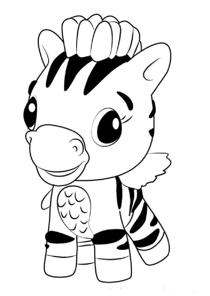 Hatchimals Zebrush Coloring Pages