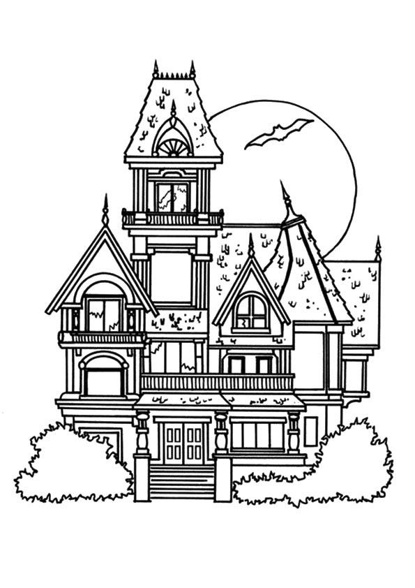 Haunted House Coloring Pages Castle
