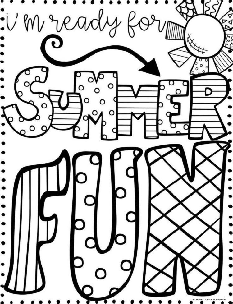Have A Great Summer Coloring Pages