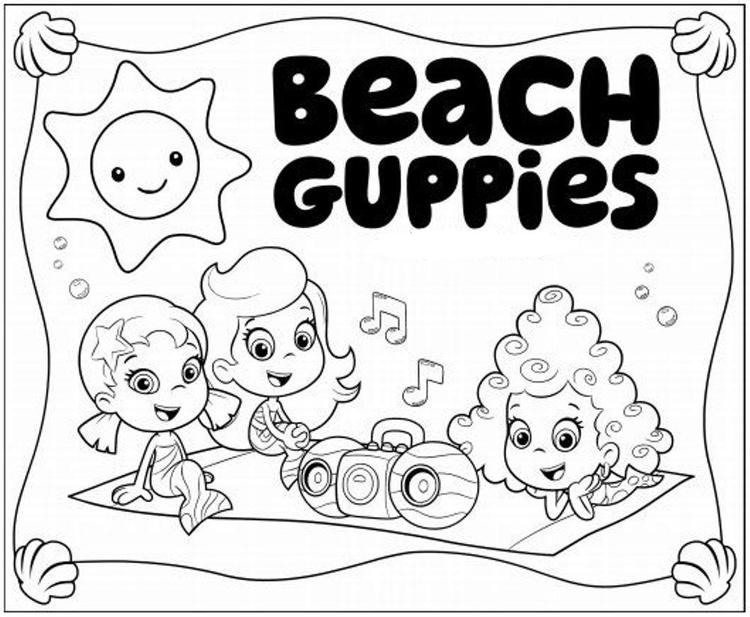 Having Fun Bubble Guppies Coloring Pages