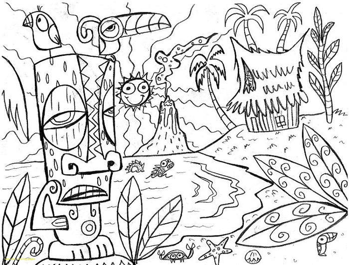 Hawaii Coloring Pages For Adults