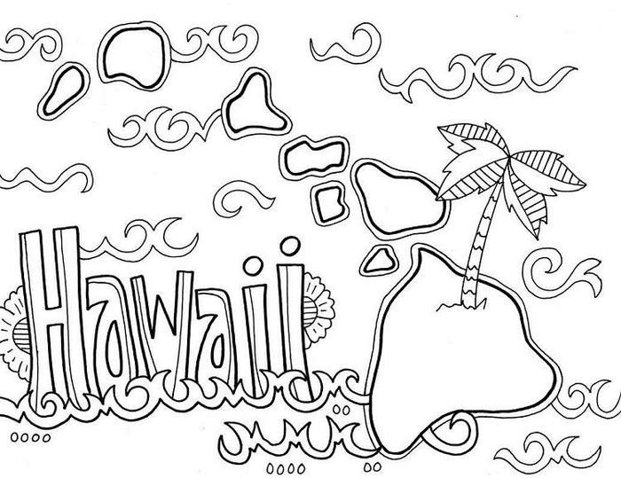 Hawaii Coloring Pages Free Printable