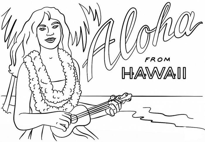Hawaii Coloring Pages Free