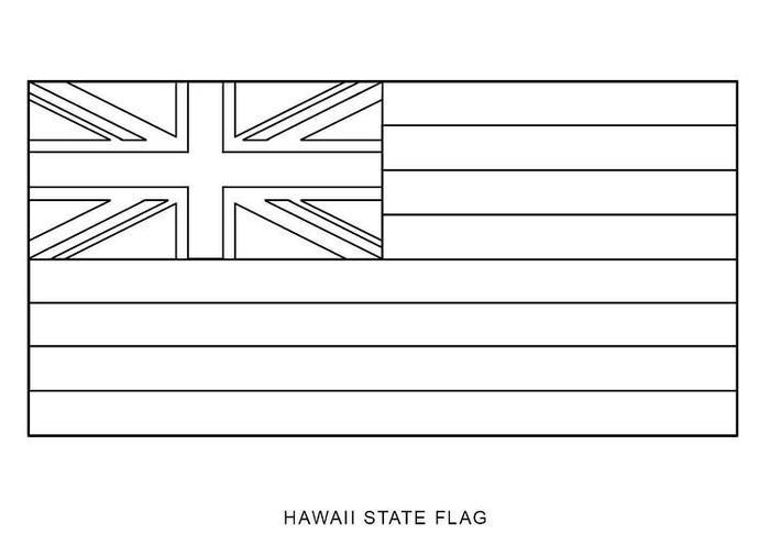 Hawaii Flag Coloring Pages