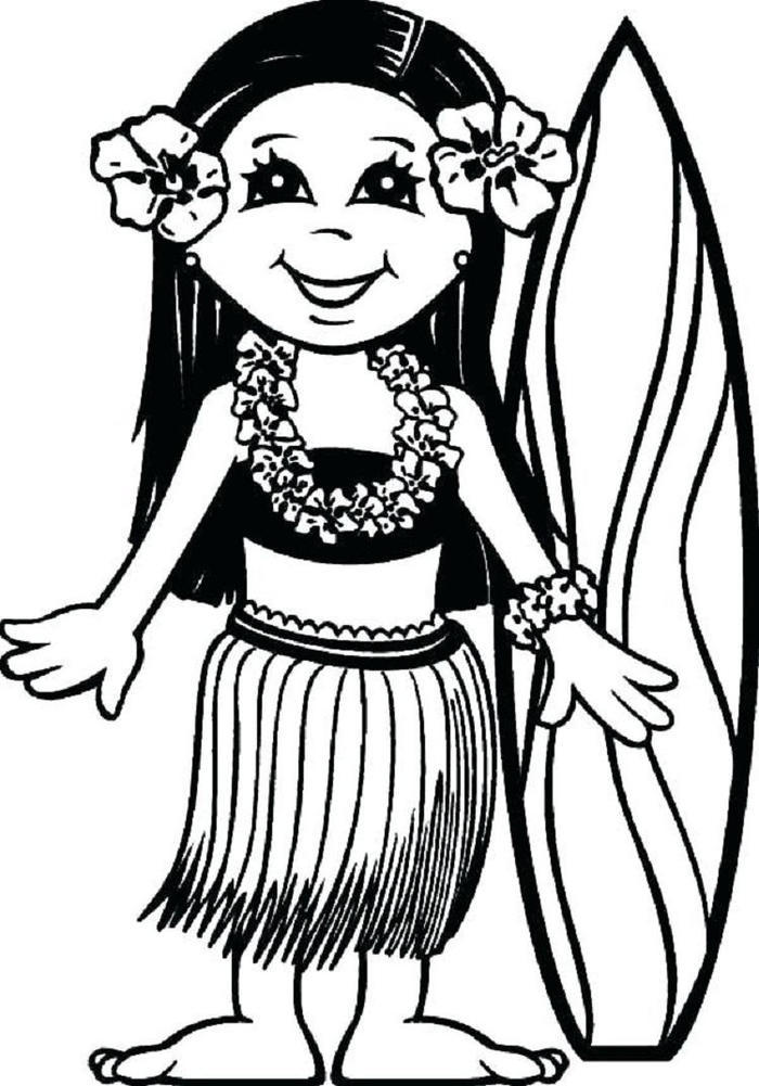 Hawaii Luau Coloring Pages