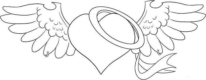 Heart Angles Coloring Pages