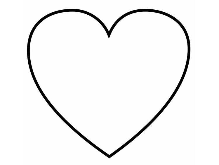 Heart Coloring Pages Blank Heart