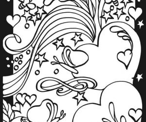 Heart coloring pages for teenagers