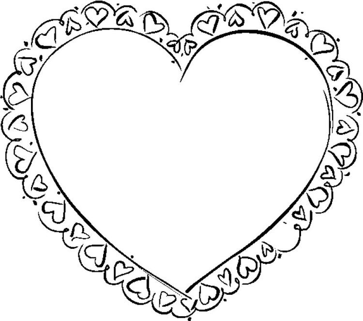 Heart Coloring Pages Free To Print