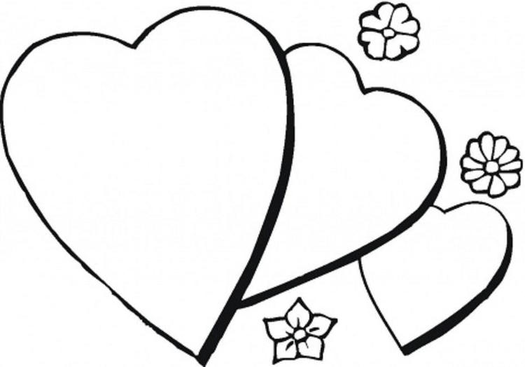 Heart Coloring Pages With Flowers