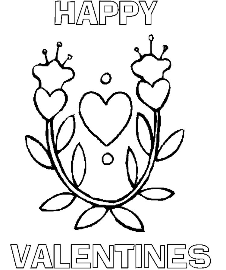 Heart Happy Valentines Coloring Pages