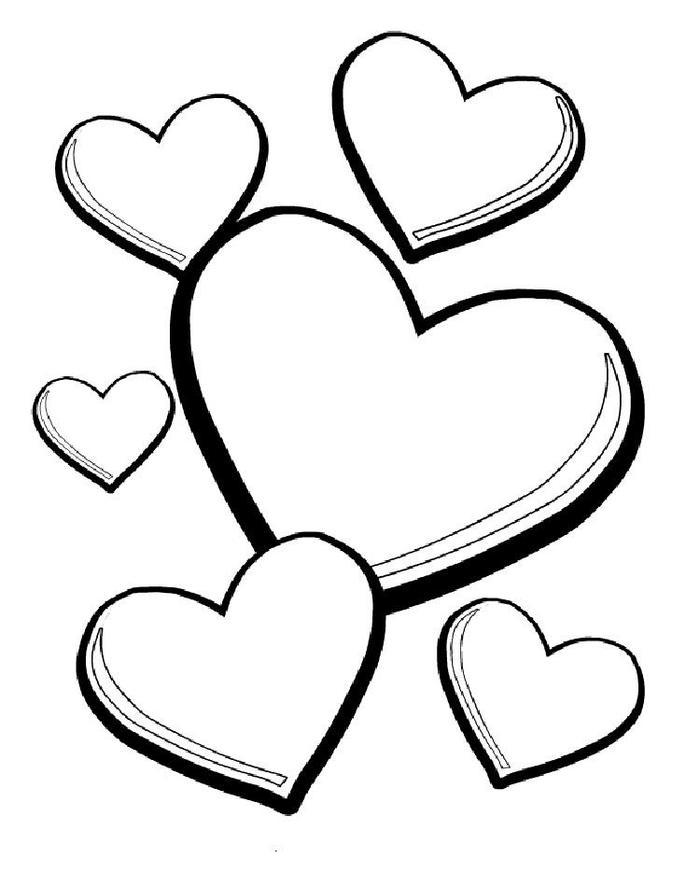 Hearts Coloring Pages Free Printable