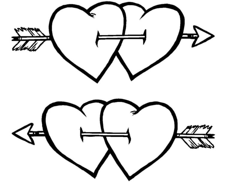 Hearts Valentine Coloring Pages