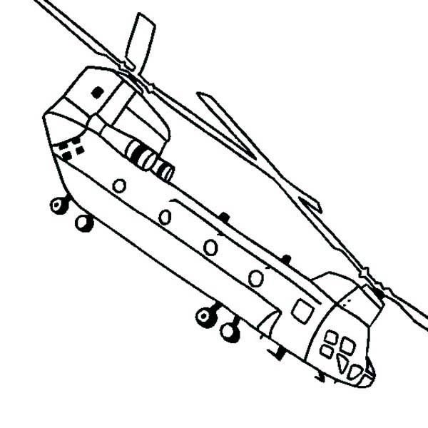 Helicopter Coloring Pages Chinook