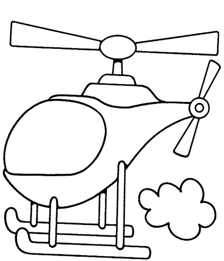 Helicopter Transportation Coloring Page For Kids